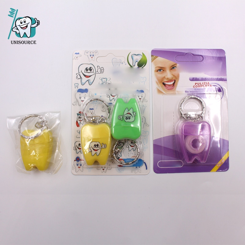 Cute 12 Yards Small Tooth Dental Floss with KeyChain