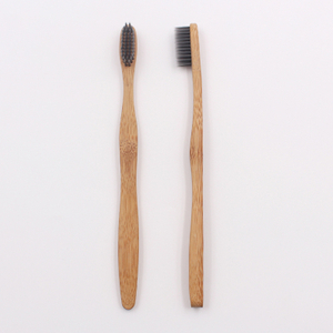 Wave Shape Thick Handle Bamboo Toothbrush